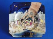 Royal Doulton 'Gnomes B' or 'Munchkins' Square Plate D4697 c1929